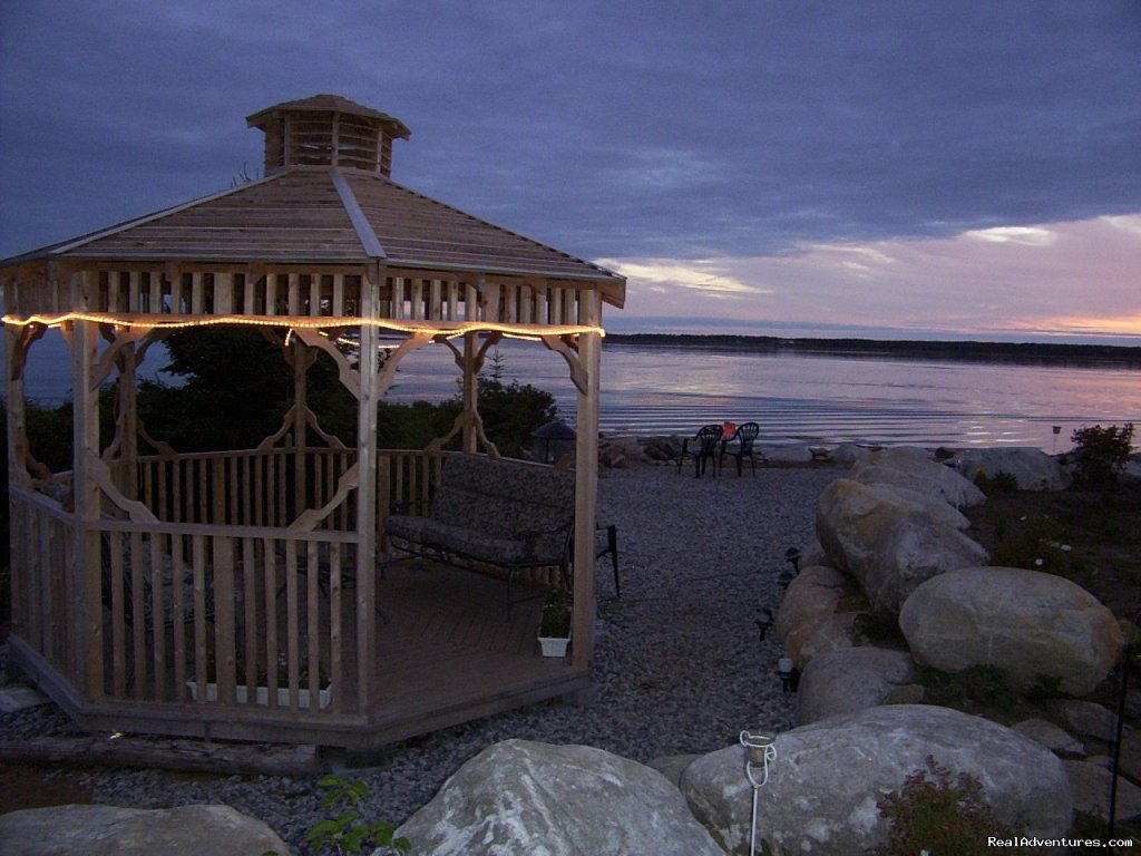 Gazebo On Water Front | Image #6/14 | Romantic Oceanfront Cottage Nova Scotia