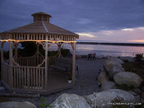 Gazebo On Water Front - Romantic Oceanfront Cottage Nova Scotia