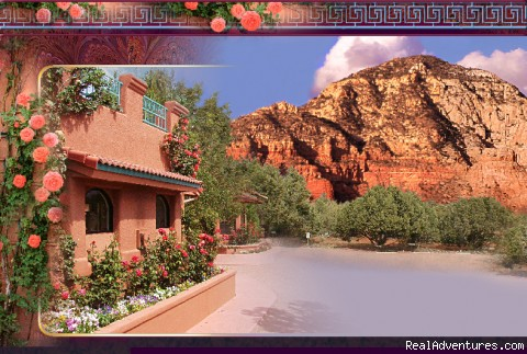 AAA 4-Diamond - As seen on the Travel Channel Front of Casa Sedona & Thunder Mountain
