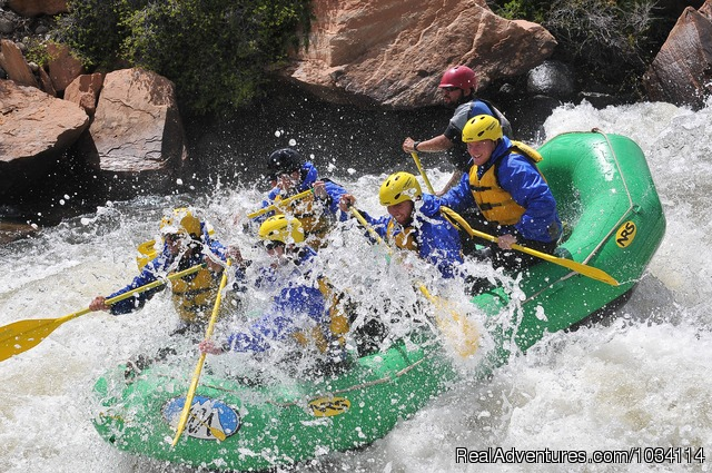 Family Rafting Fun - Colorado Adventures - Rafting, Biking and Horses