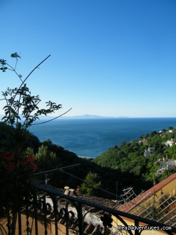 Our view - Amalfi Coast Bed & Breakfast on a budget