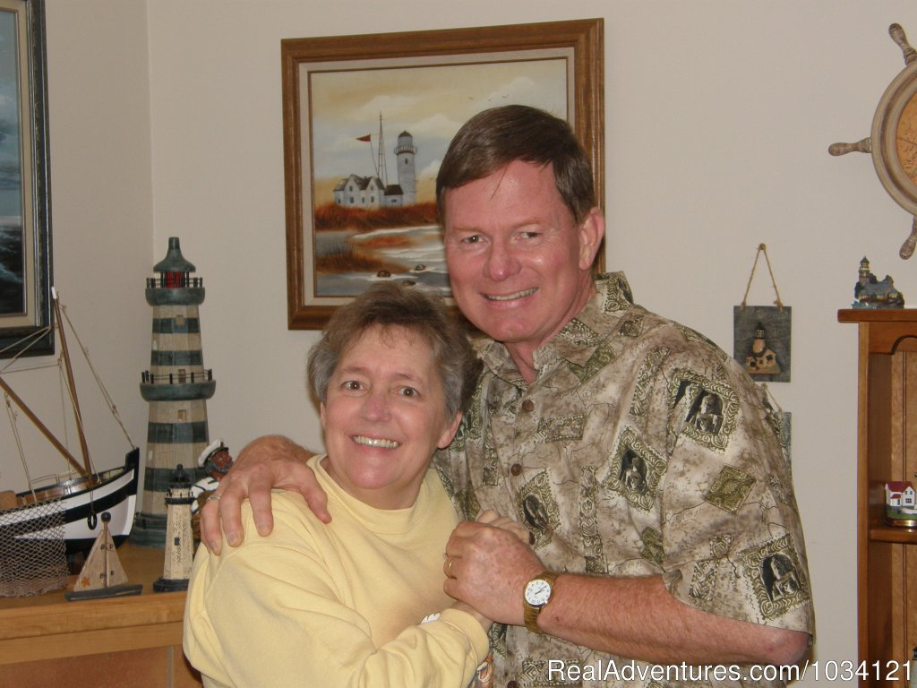 Your hosts,  Tom and Marla Housholder | Image #2/26 | Cedar Wood Lodge Bed & Breakfast Inn
