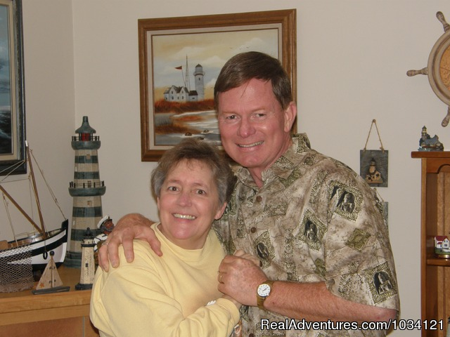 Your hosts,  Tom and Marla Housholder - Cedar Wood Lodge Bed & Breakfast Inn