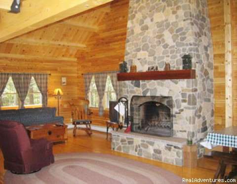 Escape to Maine in a Cozy Log Cabin