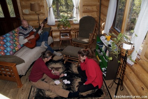 Living Room - Honeymoon or Adventure at Yukon Forest Cabins B&B