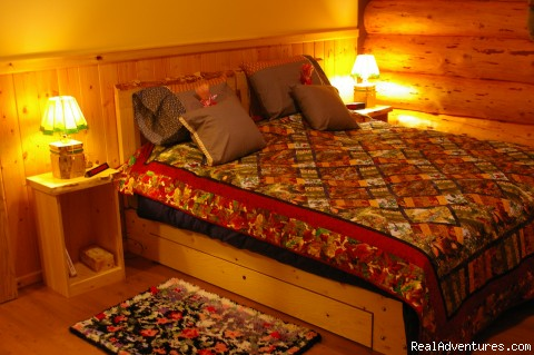 Bedroom Cabin 2 - Honeymoon or Adventure at Yukon Forest Cabins B&B