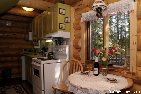 Dining area - Honeymoon or Adventure at Yukon Forest Cabins B&B