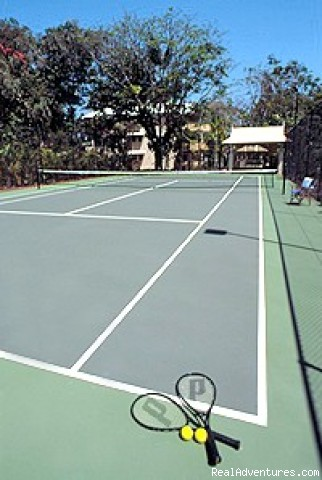 Floodlit Tennis Court - Oasis at Palm Cove