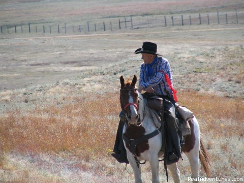 Bob Lantis -Buffalo Roundup - Wilderness Horseback Pack Trips
