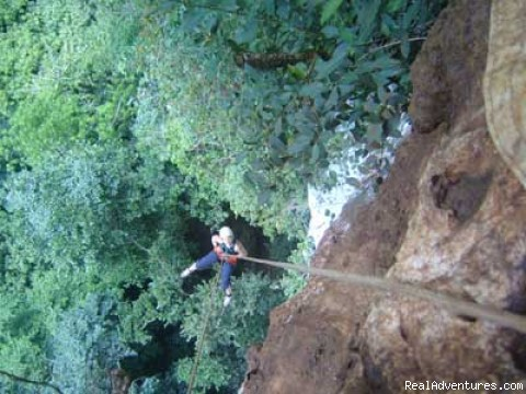 Rappelling in Belize - Green Dragon Belize Adventure Travel