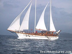 A typical luxury sailing gulet - Cruises in Croatia & on Dalmatian Coast