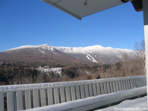 Panoramic view of Stowe Mtn Ski area - Magnificent Ski House/Stowe Vermont