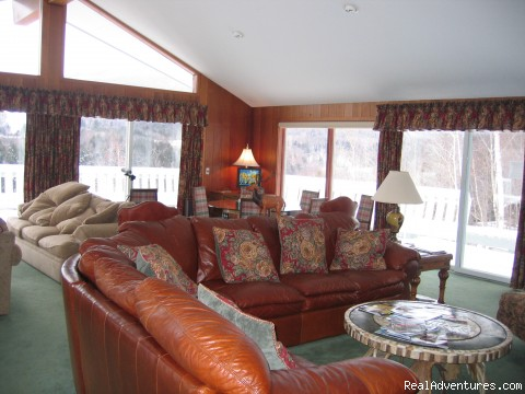 Floor to ceiling glass/great views - Magnificent Ski House/Stowe Vermont