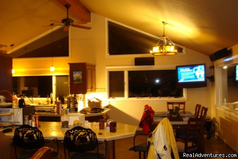 big open kitchen with 50 inch plasma tv - Magnificent Ski House/Stowe Vermont