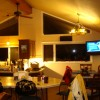 big open kitchen with 50 inch plasma tv