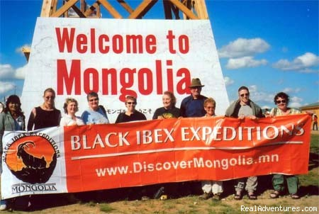 Travel to Mongolia and discover its scenic beauty.: Happy travellers