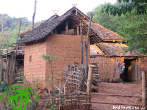 Aini peopel's house - Trekking in Xishuangbanna, Yunnan of south China