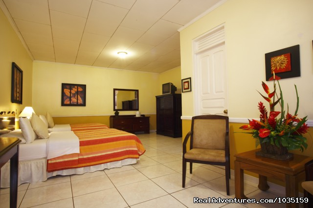 Our spacious rooms - 3.5 star value-priced hotel by airports & San Jose