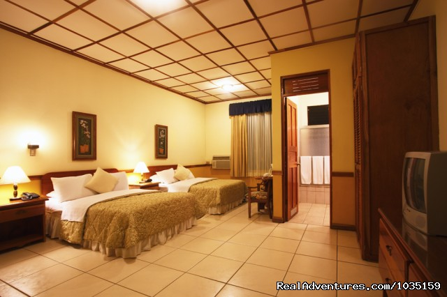 A typical room - 3.5 star value-priced hotel by airports & San Jose