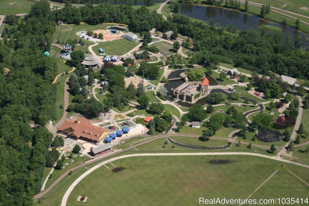 Aerial view of Storybook Land & the Land of Oz | Image #4/11 | Wylie Park Campground & Storybook Land theme park