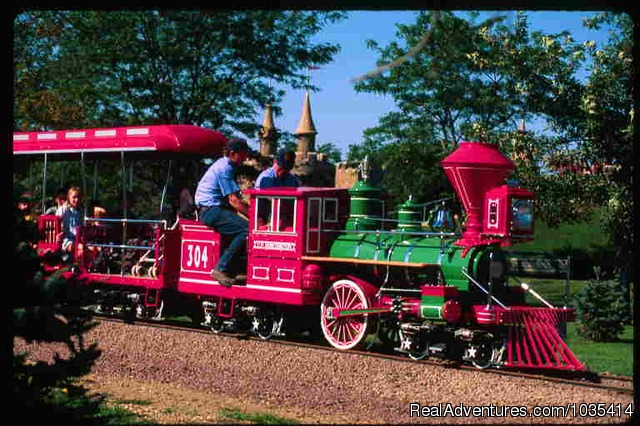 Take a ride on the Storybook Land Train - Wylie Park Campground & Storybook Land theme park
