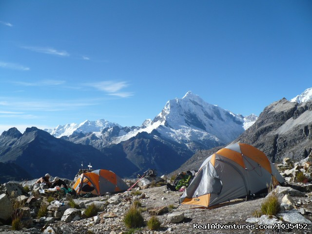 Chopicalqui view from Pisco Morraine Camp (4900m) (#2 of 9) - Peruvian Adventure Expeditions Mountaineering 2014