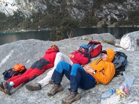 Cordillera Blanca Climbing, Trekking,  Huaraz Peru Churup Lake (4450m)