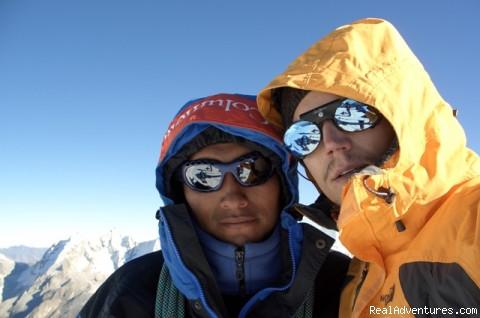 Victor Sanchez & Federico on Pisco Top - Cordillera Blanca Climbing, Trekking,  Huaraz Peru