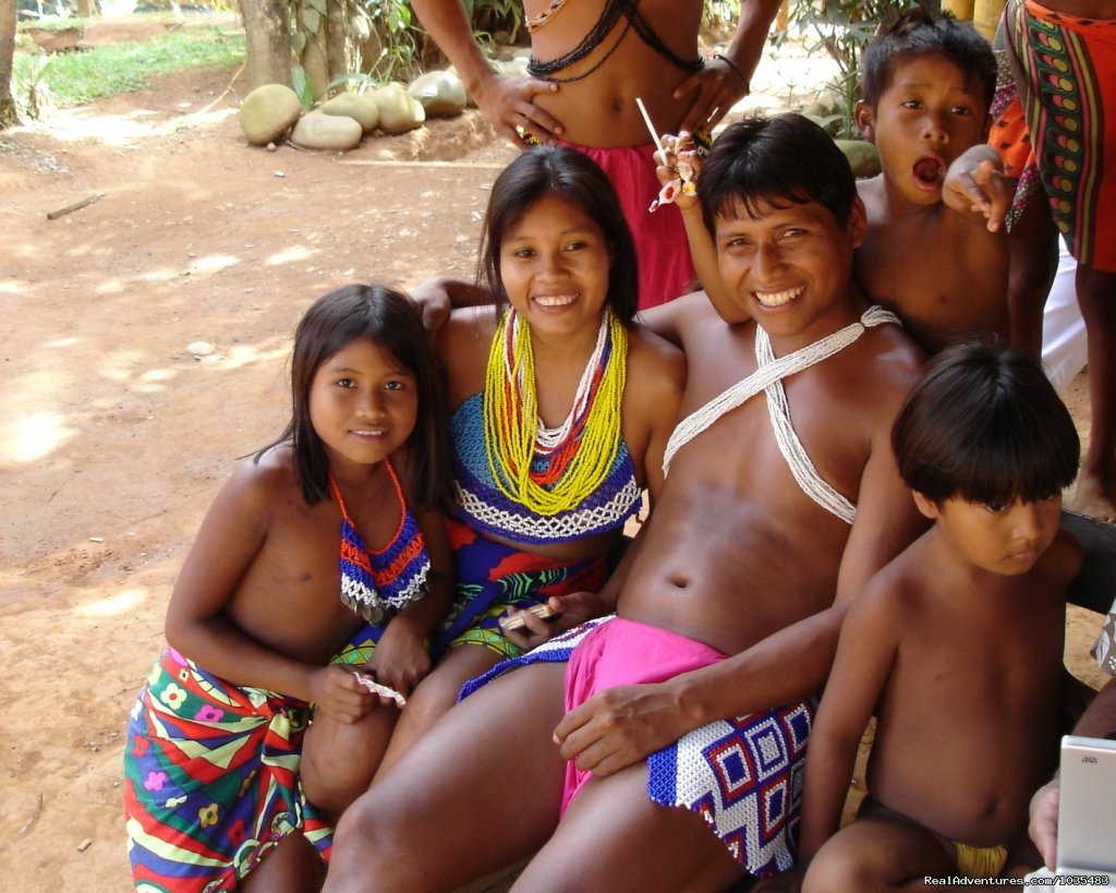 Family in the Embera Village | Image #2/3 | Panama with Canal Transit