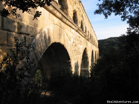 Pont du Gard - Provence culture connection-- walk among the ruins