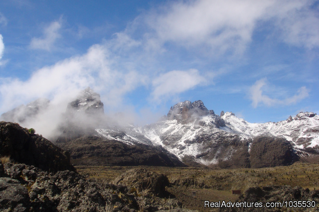 Snow Peaks of Mount Kenya - YHA Kenya Travel Tours & Safaris