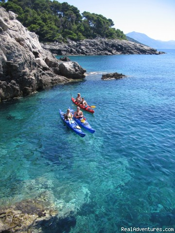 Kayaking Dubrovnik archipelago - shore excursions Crystal Clear Adriatic