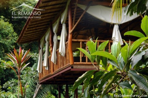 Balcony of the restaurant - Luxury Rainforest Wildlife Lodge - Osa Peninsula