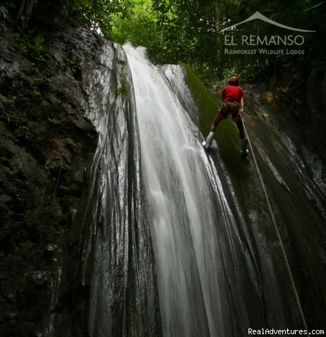 Waterfall Rappelling - Luxury Rainforest Wildlife Lodge - Osa Peninsula