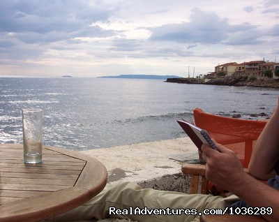 Relaxing With A Book By The Sea - Yoga, walking and holistic holidays in Greece.