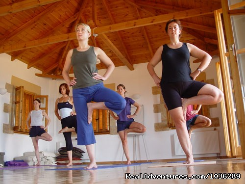 yoga class at Spirit of Life. - Yoga, walking and holistic holidays in Greece.