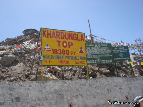 Khardung-la Pass-Highest motorable road in the world - Motor Cycle Tours to India , Nepal - 2012 & 2013