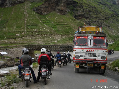 TATA Trucks - a big challenge  - Motor Cycle Tours to India , Nepal - 2012 & 2013