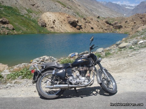 Enfield Classic bike 500 CC  - Motor Cycle Tours to India , Nepal - 2012 & 2013