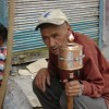 Ladakhi Man with prayer wheel