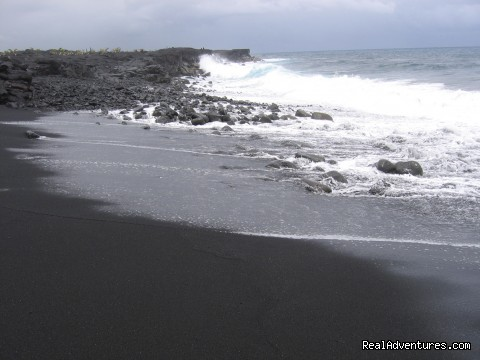 Sparkling black sand beach (#22 of 26) - Hale Mar: Luxury Oceanfront Home w Pool & Hot Tub