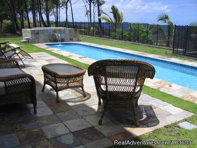 Relax on the ocean front lanais (#25 of 26) - Hale Mar: Luxury Oceanfront Home w Pool & Hot Tub