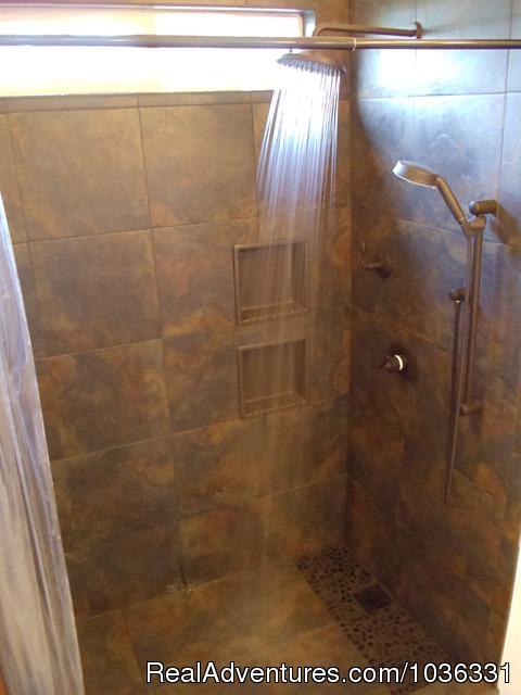 New maser bedroom tiled shower - Hale Mar: Luxury Oceanfront Home w Pool & Hot Tub