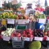 Exotic fruits and vegetables at local markets
