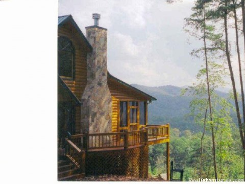 Beautiful vacation log cabins in Blue Ridge, Ga.