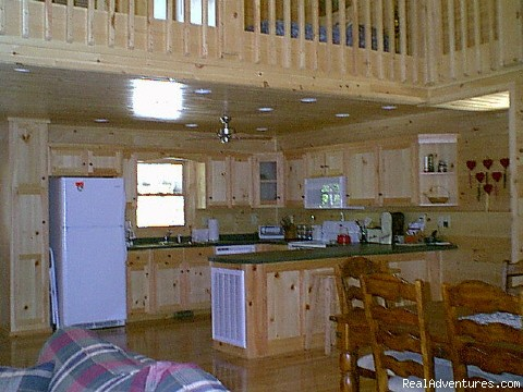 completely equipped kitchens - Beautiful vacation log cabins in Blue Ridge, Ga.