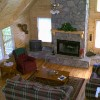 Beautiful vacation log cabins in Blue Ridge, Ga. One of our well furnished great rooms