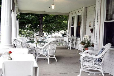 Inviting Wrap-Around Porch - Romantic Getaways Year-Round at Elegant Inn
