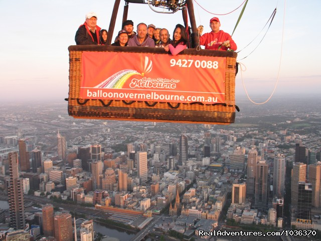 Hot air ballooning over Melbourne