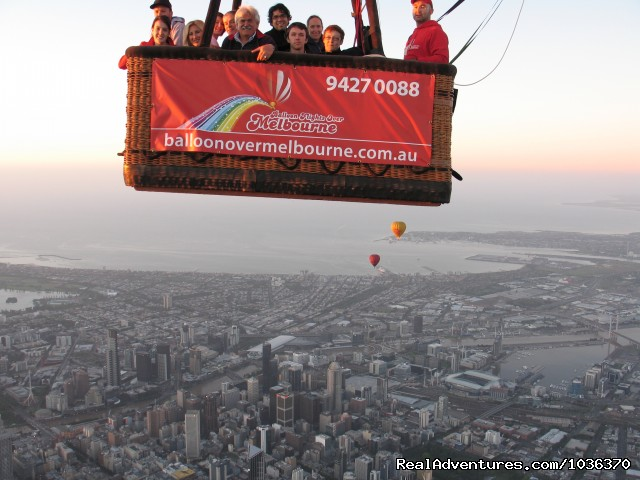 High Above Melbourne in a hot air balloon. (#2 of 5) - Hot air ballooning over Melbourne